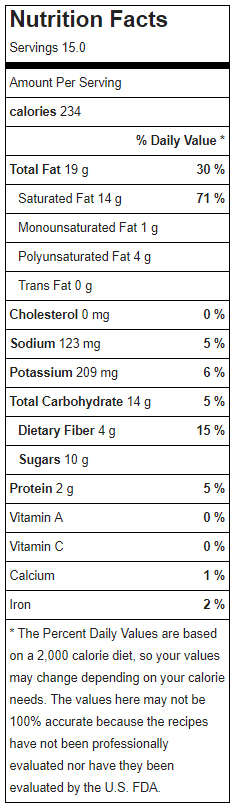Raw Vegan Samoa Cookies Nutrition Facts